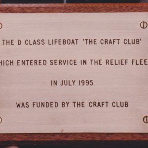 "Lifeboat ""THE CRAFT CLUB"""